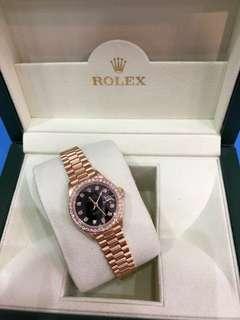 Rolex 69178  Lady Size 18k Full Gold Watch with Original Diamond Bezel