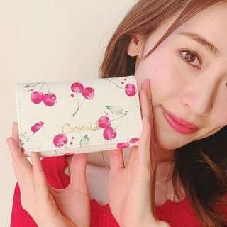 日本雜誌附錄 cocoonist 櫻花圖案 內附鏡子 化妝袋 收納包 小物包