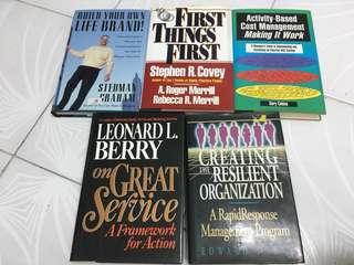 Service/Management/self development books