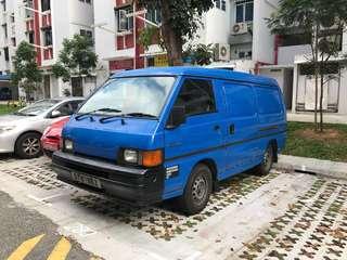 Pre-order a van for transportation