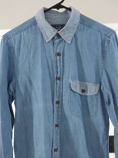 Topman Men Denim L/S Shirt
