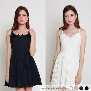 (PO) Audrey Pleated Dress