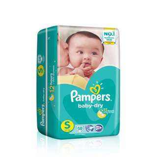 Pampers Baby dry Diaper Size S