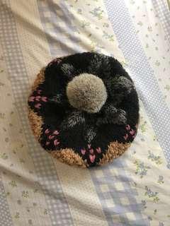 兔毛球毛帽