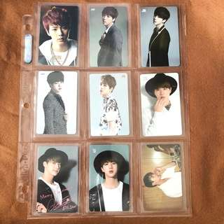 WTS bts jin japan pressed photocards