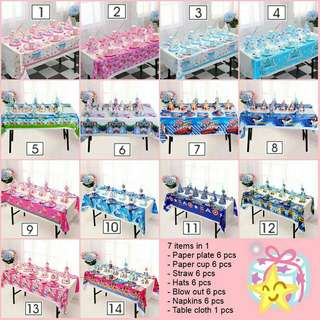 *FREE DELIVERY to WM only / Ready stock* Party set decoration each design as shown design/color. Free delivery is applied for this item.
