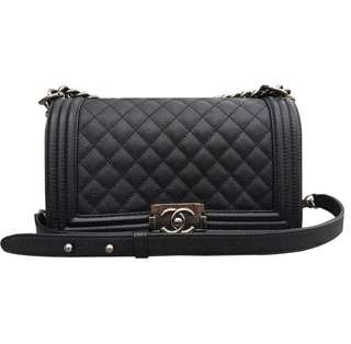 Reduced !! Chanel Le Boy caviar