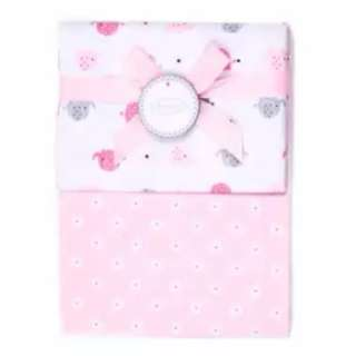 2 x Autumnz Flannel Receiving Blanket (Pink)