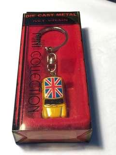Mini cooper die cast metal key chain