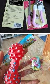 Pet clothes... toys