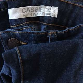 Navy High Waisted Jeans (Factorie)