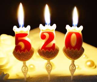 Birthday candles decorate Numbers.