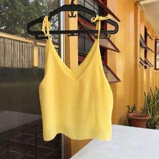 Yellow tie up top cami