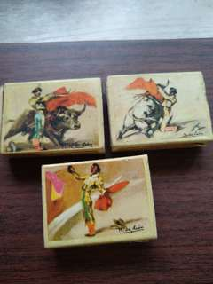 Vintage - set of 3 matchboxes (Mexico)