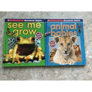 See Me Grow and Animal Babies (2 books)