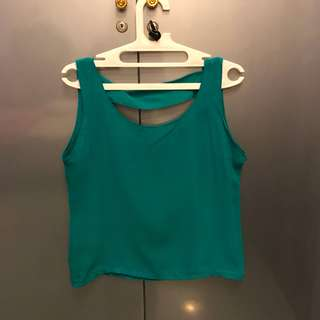Green Cassual Tank Top