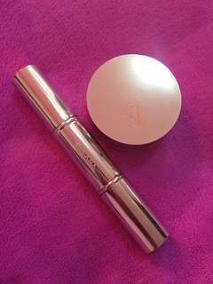 Ellana Loose Mineral Concealer and Foundation with Dual Head Retractable Stay Gorgeous Powder Brush