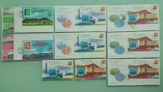 香港'97郵展首日封/紀念封+小全張/小型張系列~第3號-第5號official souvenir cover+sheetlets~HK'97 Stamp Exhibition series no. 3-5