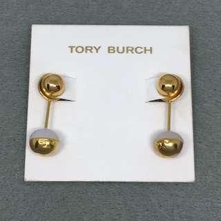 Tory Burch Sample Earrings 白色配金色天然石吊飾耳環