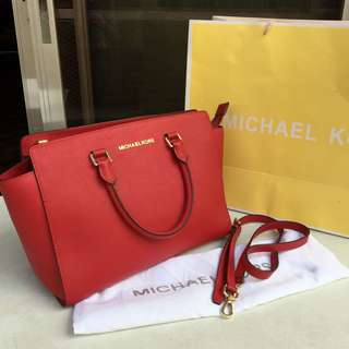 REPRICED!! MICHAEL KORS Selma Saffiano Leather Medium Satchel