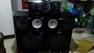 Sound system.. 2 large speaker with CD player with original price 35,000.00