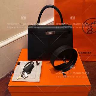 100% authentic & new Hermes Kelly 25 Sellier PHW Stamp C