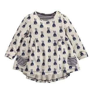 Girl Long Sleeve Bunny Top