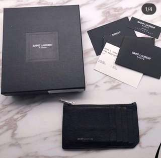 YSL Card Holder 6-70%new 100%real