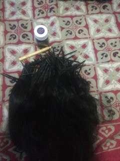 Human hair+ring+kaitan