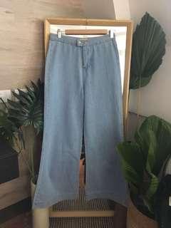 Brand New Wide Leg Denim Pants