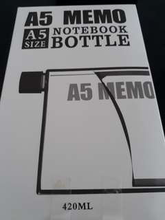 Notebook bottle *brand new*