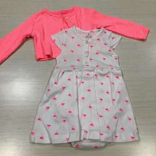 Carter's Dress & Cardigan Set