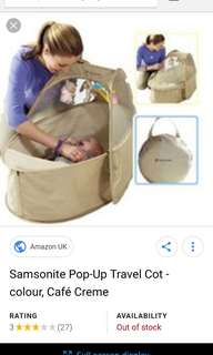 samsonite travel pop.up cot