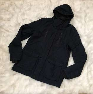 H&M Dark Blue Parka