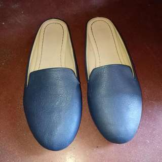 Navy blue loafer slip on