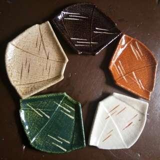 Japan mini plate (leaf design)
