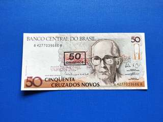 Old banknotes Brasil UNC