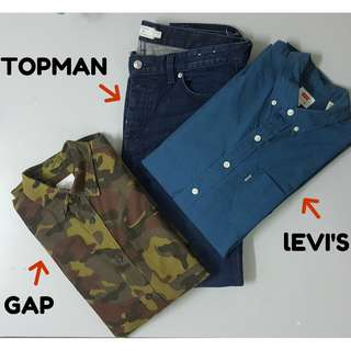 All for Rm250 (TOPMAN GAP LEVI'S)