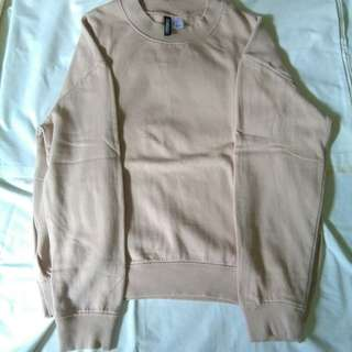 H&M nude pink sweater