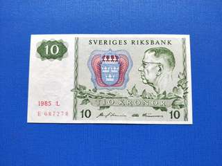 Old banknotes Sveriges Rims Bank