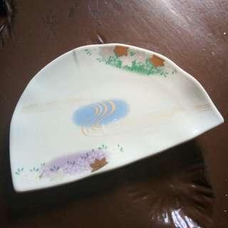 Japan made plate (halfmoon design)