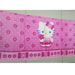 TOWEL KANAK2 -  HELLO KITTY PINK CUTE FLOWER