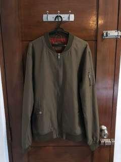 Berhska Olive Bomber Jacket