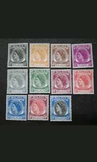 Malaya 1950 Malacca Queen Elizabeth II Loose Set 1c To 50c - 9v MNH & 2v MH Stamps