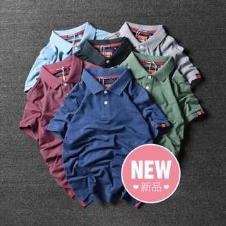 Japanese-Styled Foreign Original Male POLO Short-sleeved