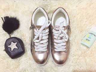 Metallic Pink Sneakers