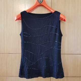 🚚 黑色針織亮片裝飾背心#女裝半價