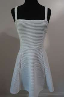White dress with criss cross back