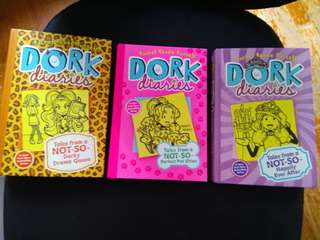 3 hardcover Dork Diaries Books excellent condition