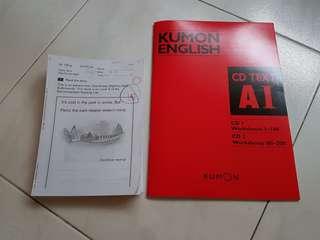😊400pgs Kumon Lvl A Eng Worksheets & 2CD